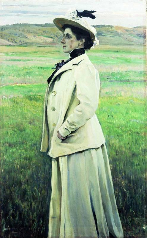 Михаил Нестеров Портрет Натальи Григорьевны Яшвиль. 1905 г.