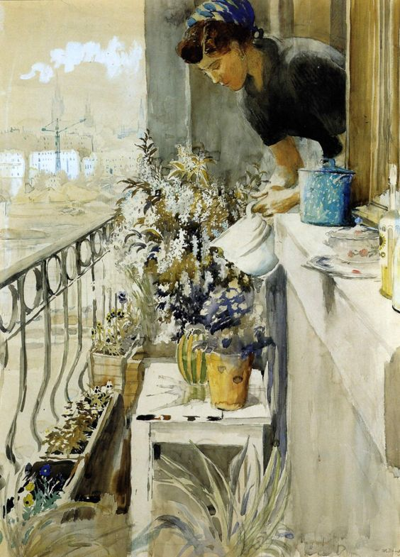 Юрий Пименов (1903-1977) «Балкон» 1957 год. Киевская картинная галерея