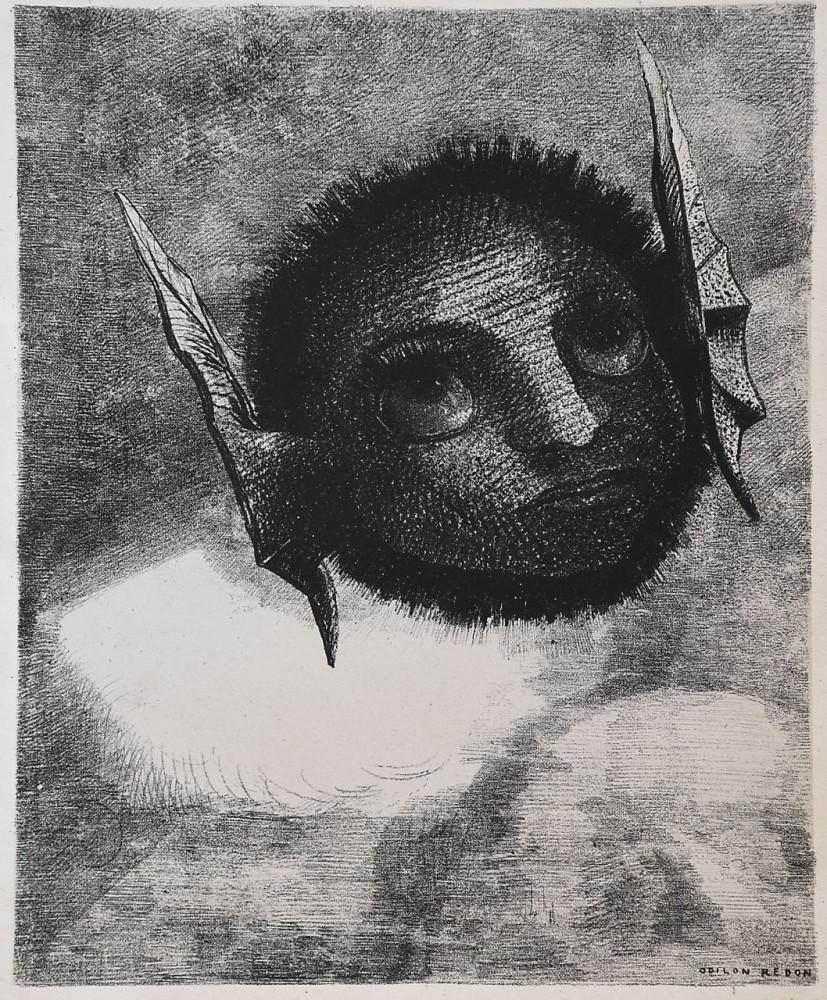 Одилон Редон (Бордо, 1840 - Париж, 1916) . Гном. Лист 6 из серии «Во сне», 1879 г. Бумага, литография 272 х 221