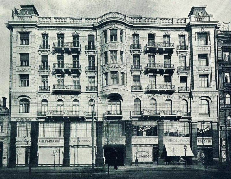 Дом на Фундуклеевской 32 в 1914 году. Фото из Википедии