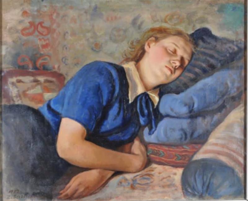 Зинаида Серебрякова. «Спящаяя Катя». 1952 Холст, масло
