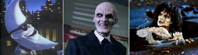 """Джонс в роли персонажа Мак Тунайт из рекламы McDonald's (слева),Джентльмена из сериала """"Баффи - истребительница вампиров"""" (в центре) и Билли Бутчерсона из фильма """"Фокус-покус"""" (справа)... [Read more"""
