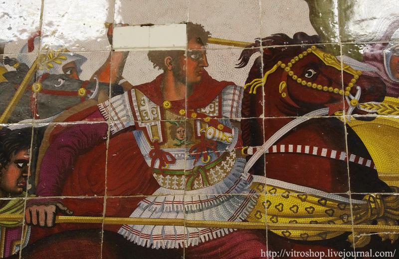 Александр Македонский. Фрагмент майоликового панно из собрания ГЭ. Мануфактура Бьяджо Джустиниани и сыновья