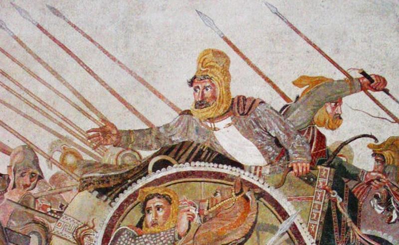 Персидский царь Дарий III. Фрагмент мозаики из дома Фавна в Помпеях.