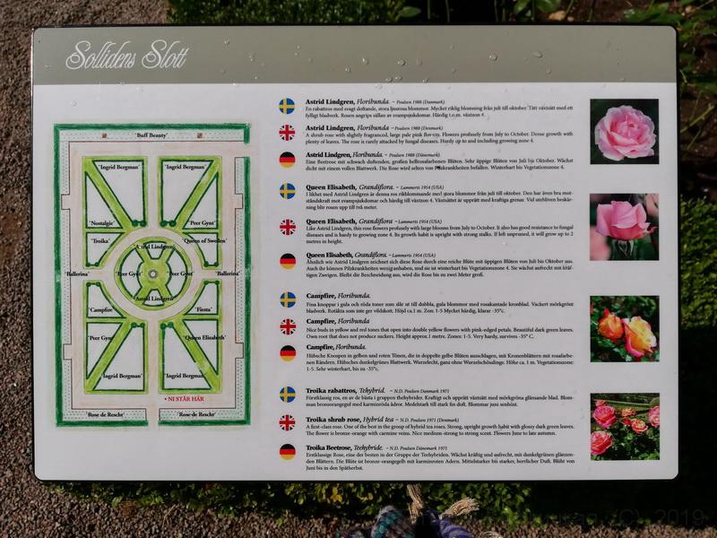 План голландского садика в парке Соллиденс - резиденции шведской королевской семьи. Остров Эланд. Фото 2019
