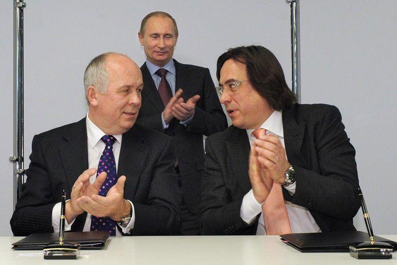 Сергей Чемезов, Владимир Путин, Сергей Адоньев. Автор: Дмитрий Азаров/Коммерсантъ