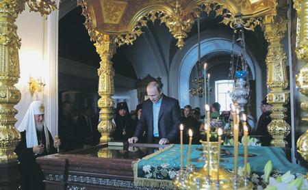 Валаамский монастырь не раз становился местом рождения новых идей Владимира Путина. Фото с официального сайта президента РФ