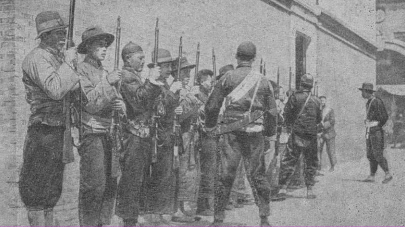 По оценкам историков, за красных в разные периоды Гражданской войны воевали от 20 до 40 тысяч китайцев