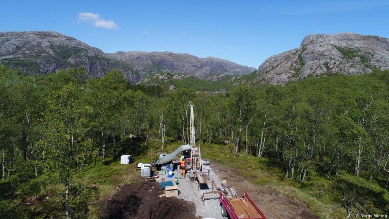 Геологоразведывательные работы на юго-западе Норвегии на месторождении фосфатов, титана и ванадия