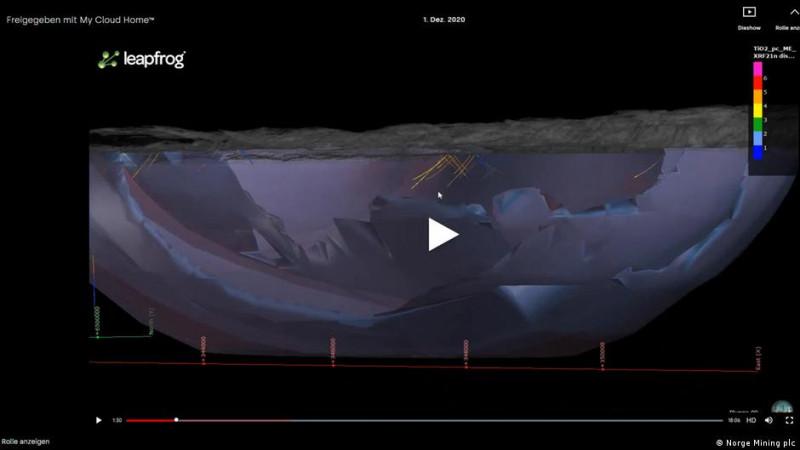 Минералы в Бьеркрейм-Сокндал залегают на глубине не менее 2200 метров, максимум - 4500 метров