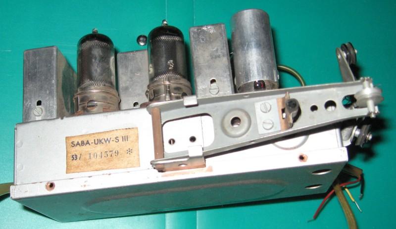 Вид на модуль со стороны рычага вариометра