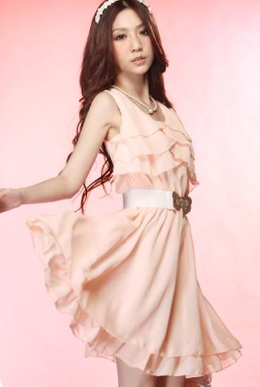 шифоновое платье из кореи