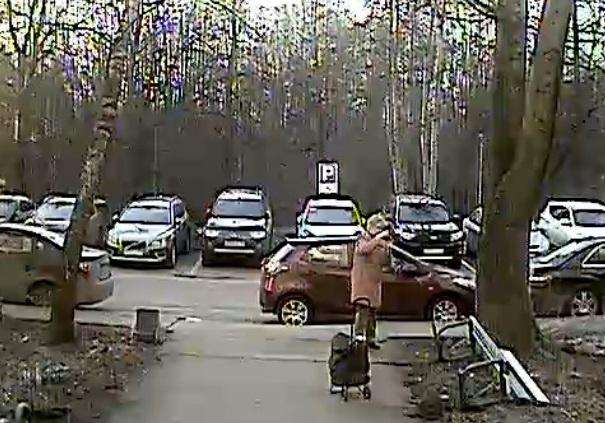 Видеокамера на подъезде зафиксировала вандала