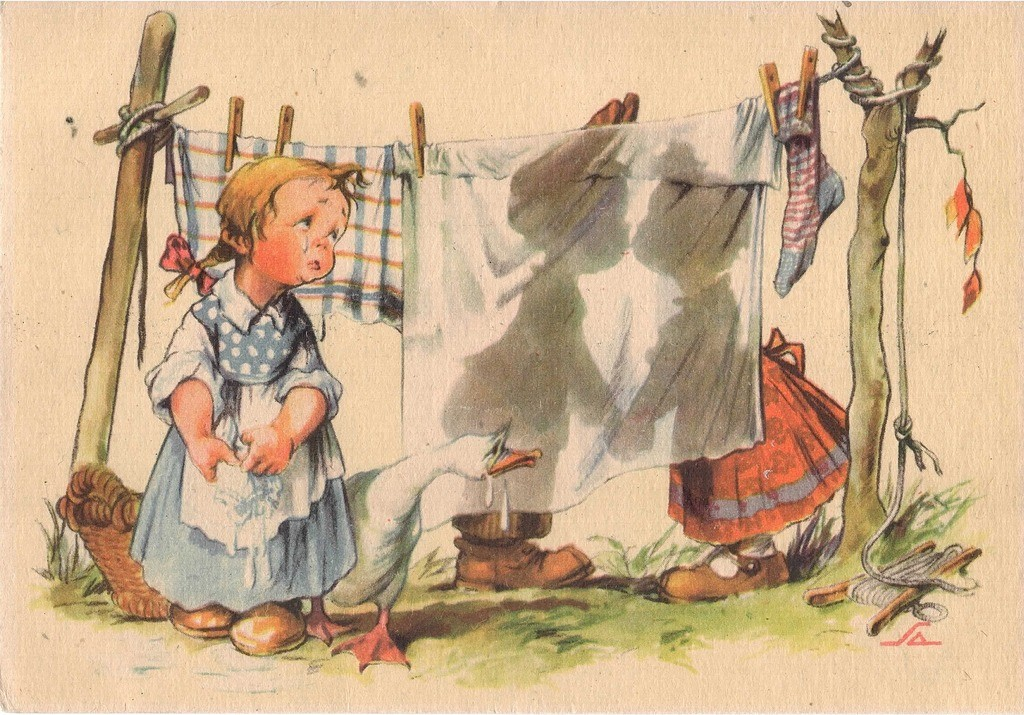 Бабушке старинные открытки
