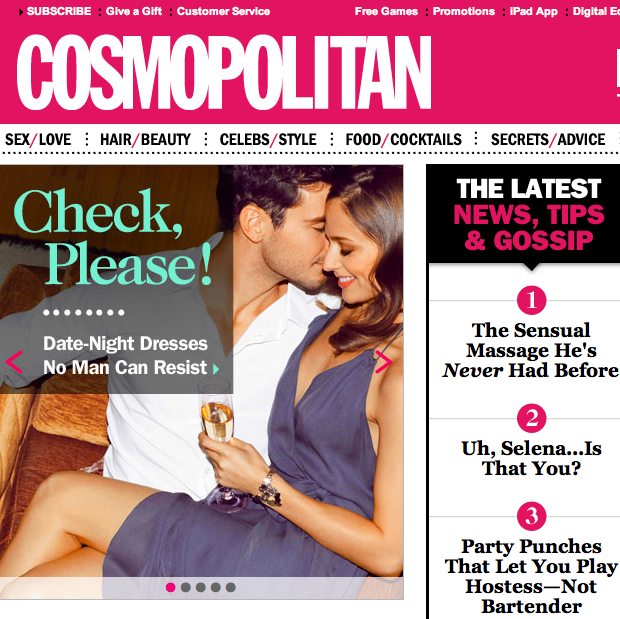 Cosmo magazine sex advice