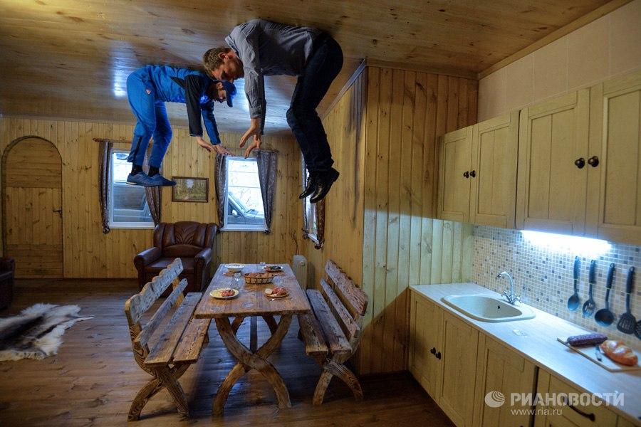 Дом вверх дном в Новосибирске