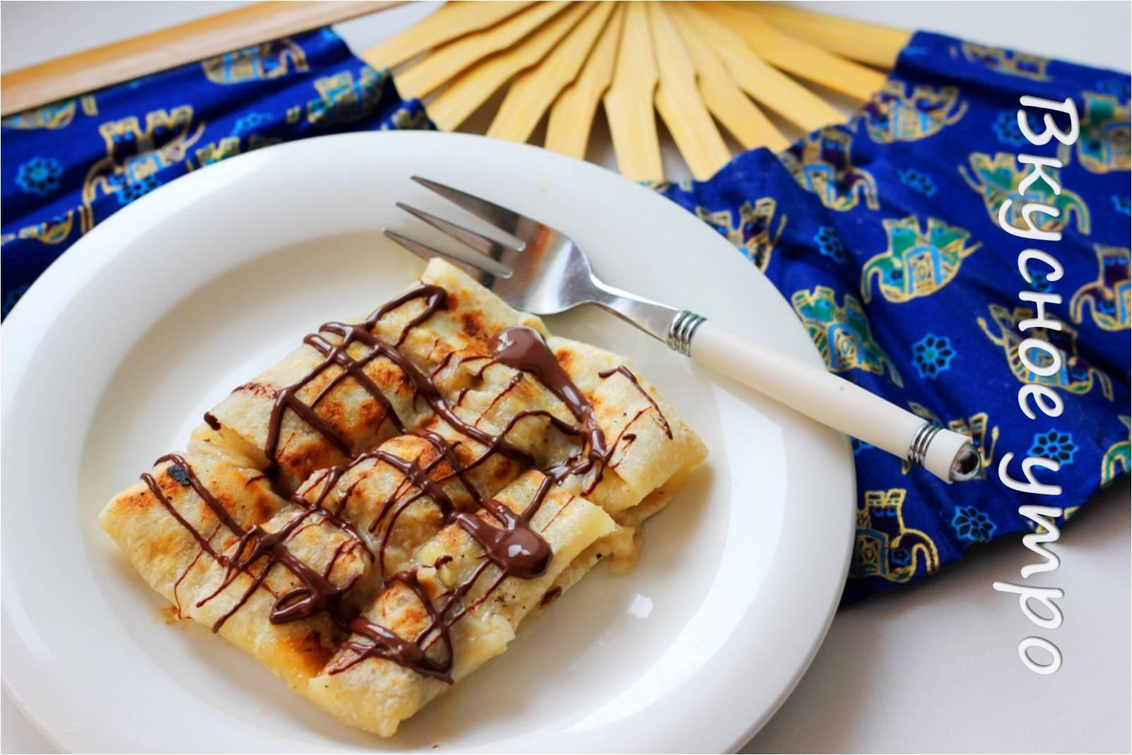 Тайские блинчики с бананами