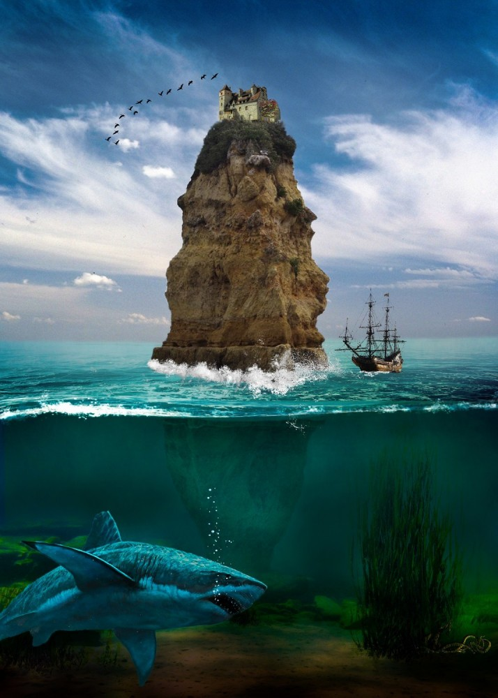 Above and below water. by johndoop_original