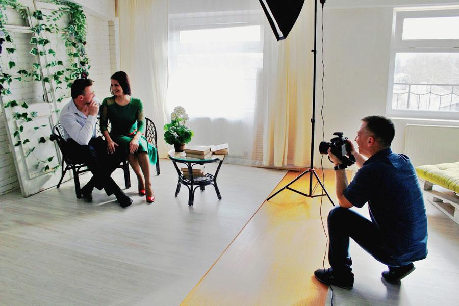 работа фотографа с клиентами
