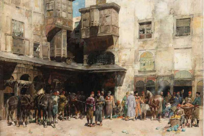 "Альберто Пазини, ""Турецкий базар"" (""Mercato turco""), 1884 г."