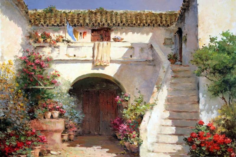 Дворик с садом