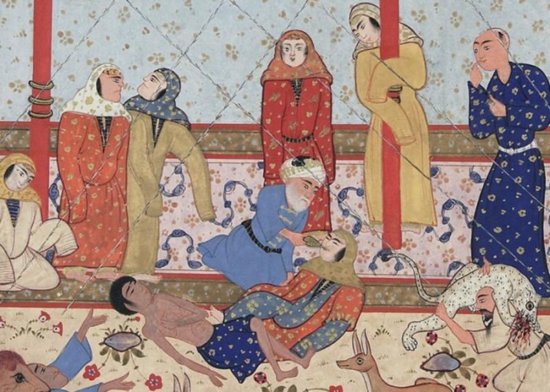 Лейли и Маджнун, умирающие от любви
