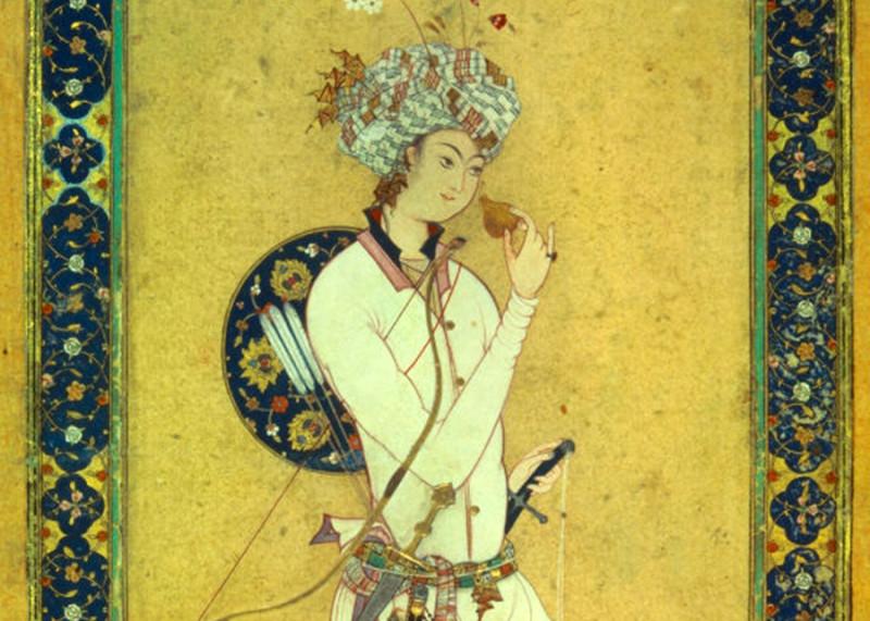 Харун ар-Рашид, нюхающий цветок граната