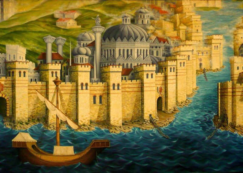 Средневековое изображение Константинополя