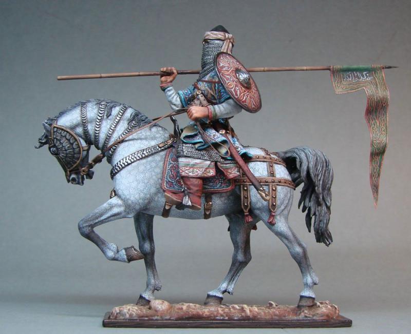 Миниатюра, изображающая арабского всадника
