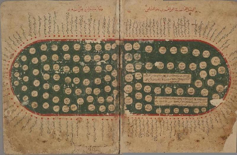 "Средиземное море из ""Книги курьезов"", XI век"