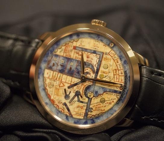 Часы с картой