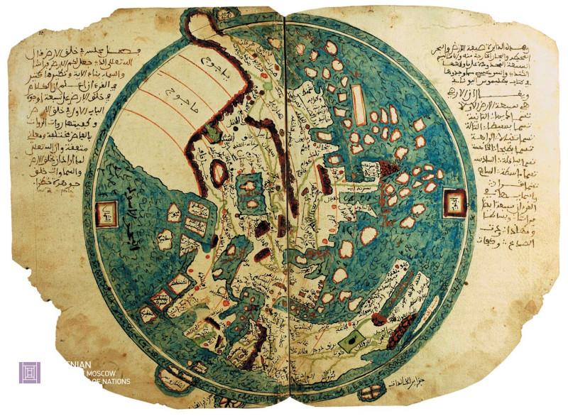 Карта аль-Казуини, XIV век