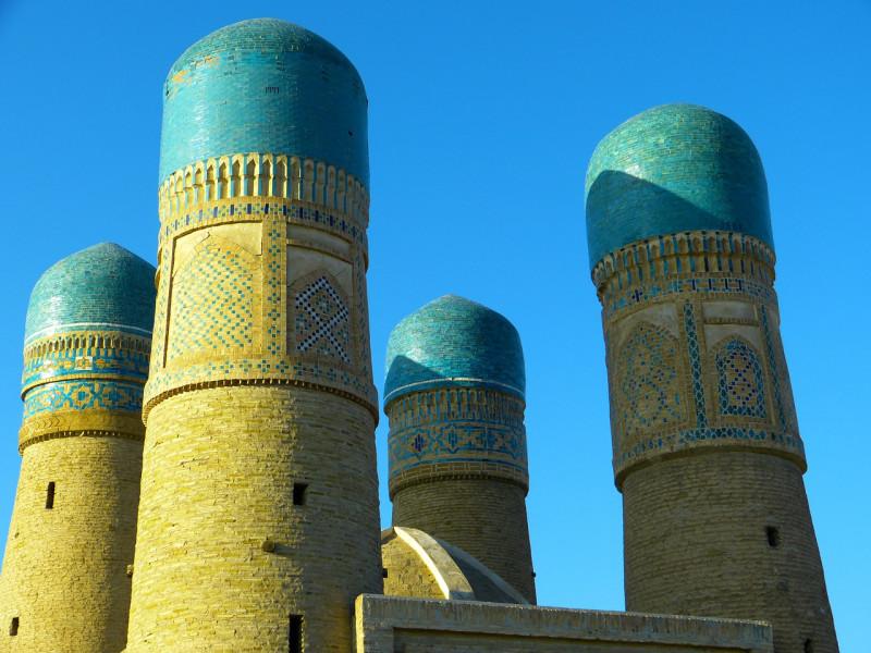 Минареты мечети Чор-Минор в Бухаре. XVII век