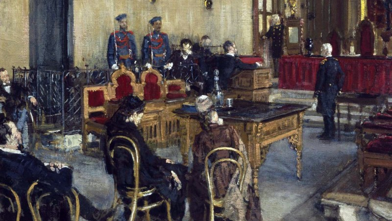 В ожидании приговора суда . Константин Савицкий 1895г.