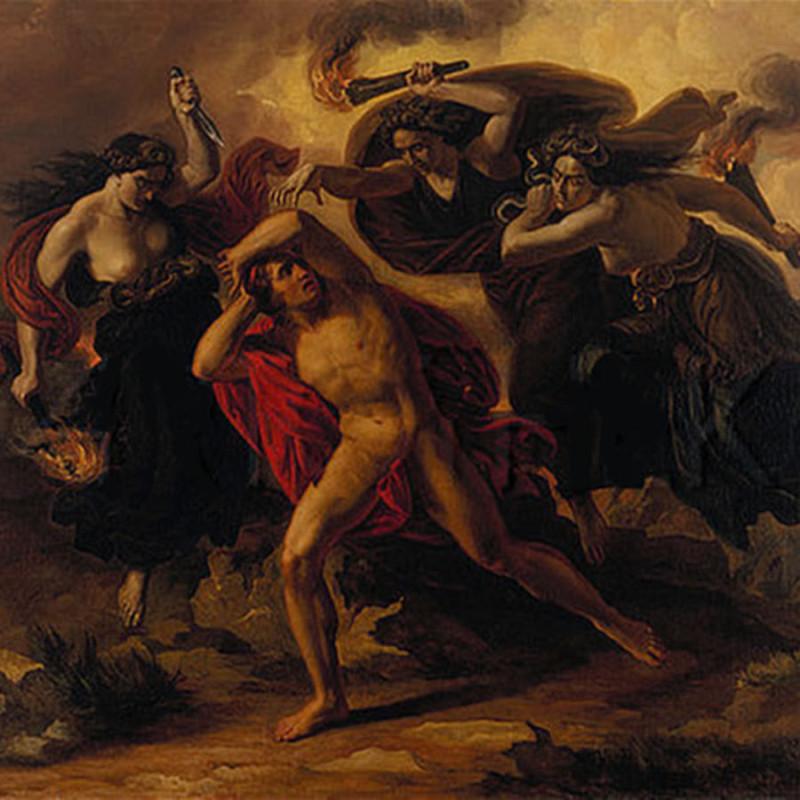 Орест и Эринии богини мщения.