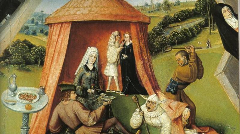 Иероним Босх. Похоть (фрагмент). 1485 год