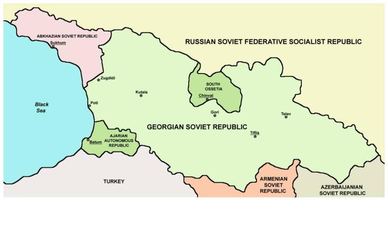 Социалистическая Советская Республика Грузия. Освобожденные автономные республики. 1922
