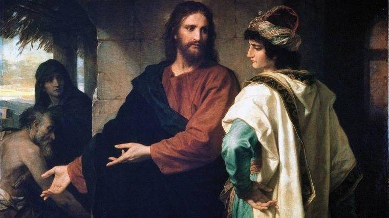 Генрих Гофман. Христос и богатый юноша
