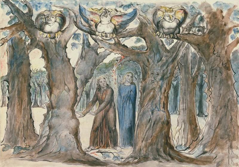 Дерево самоубийц. Уильям Блейк. 1824–1827