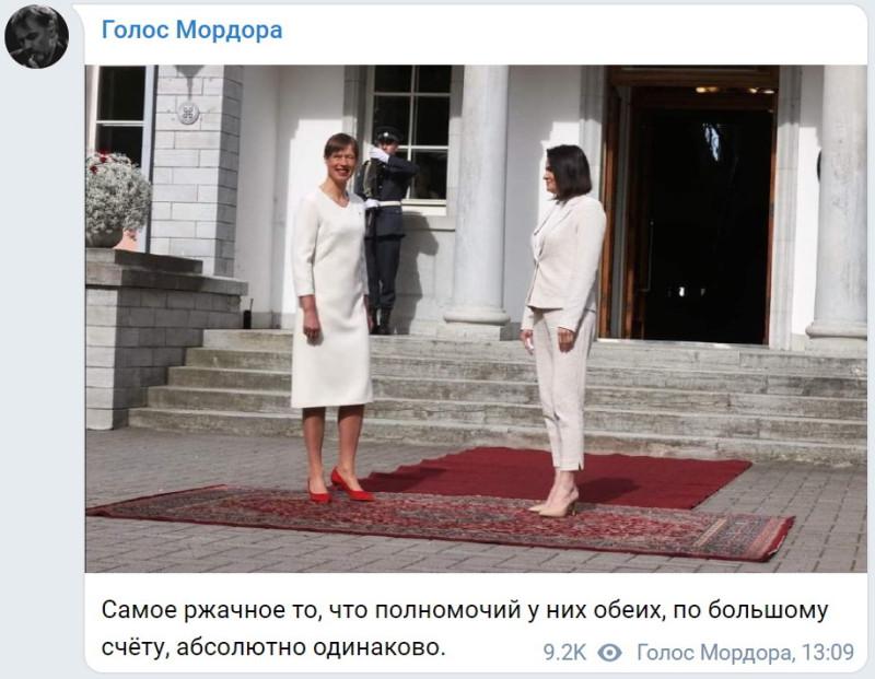 """""""Правящий в Беларуси Лукашенко ощутил свою безнаказанность"""", заявила Светлана Тихановская на встрече с президентом Эстонии. Таллин призвал прекратить насилие."""