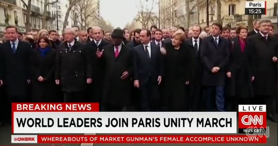 Paris unity march, Париж, Марш единства, Charlie Hebdo, Украина, Порошенко, Франция