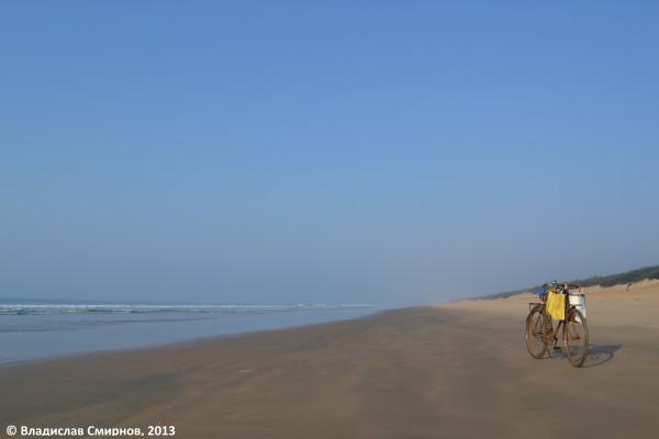 На пляже возле Конарака