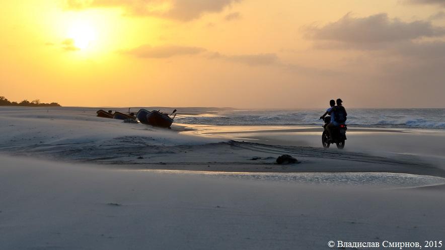 Закат. Пляжи возле Жерики
