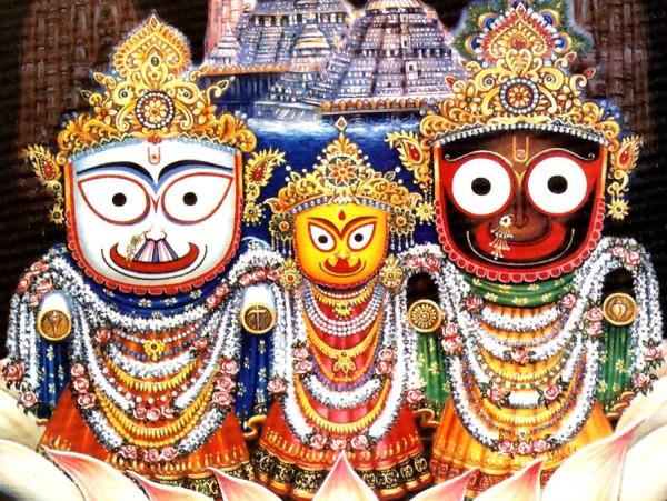 Индийские боги: Джаганнатх. Балабхадра и Субхадра