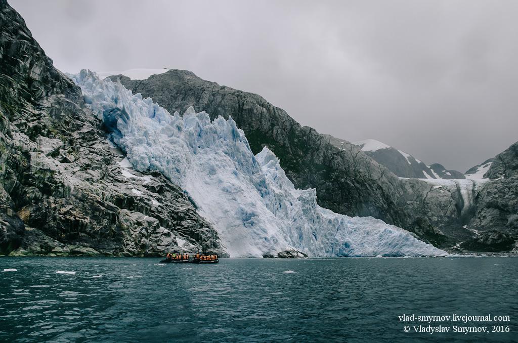 Ледник Пилото. Вдалеке ледник Нена