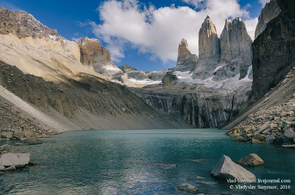 Torres del Paine Озеро и Башни