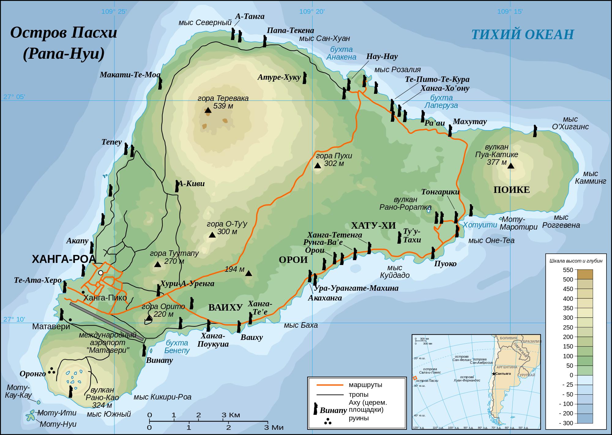 Карта о. Пасхи