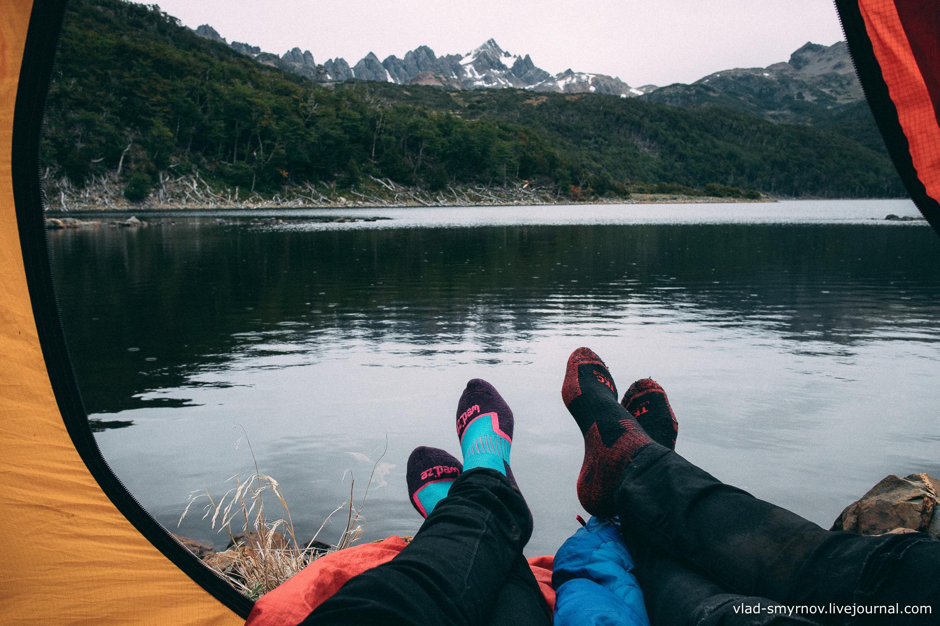 Озеро Робало и горный массив Диентес