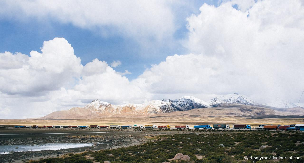 Пограничный пункт Боливия-Чили
