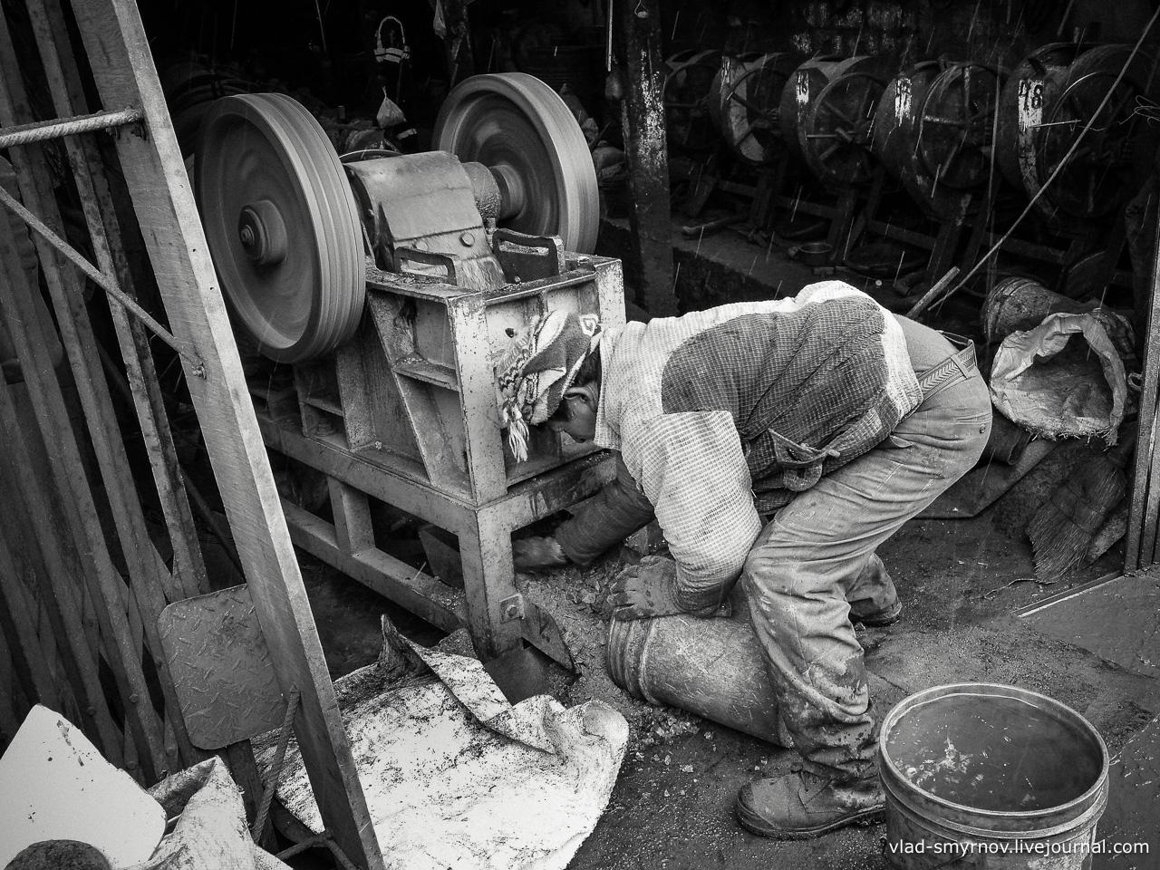 La Rinconada. Дробление руды